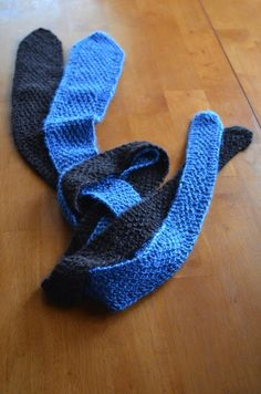How to knit men's ties instructions~ so when I learn to knit someday I can make one :)
