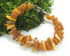 Healing stone jewelry for men Raw unpolished Baltic amber bracelet Untreated amber Hand knotted bracelet big wrist natural amber nuggets Baltic Amber Necklace, Amber Earrings, Amber Bracelet, Amber Beads, Bracelet Knots, Knotted Bracelet, Amber Stone, Healing Stones, Stone Jewelry
