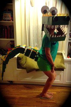 Cardboard Box Crocodile Costume
