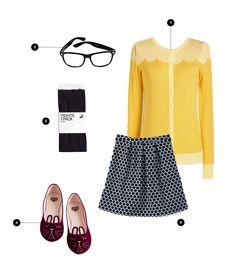 We heart Jessica Day's style! #halloweencostume #easycostume
