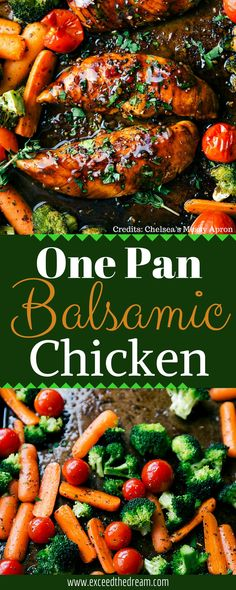 This One Pan Balsamic Chicken recipe is perfect for a quick, easy, and delicious meal any time of the week! A little chopping and tossing then throw it in your oven to bake for about 15 minutes, and dinner is served!