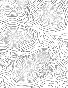Home Decoration Art .Home Decoration Art Printable Adult Coloring Pages, Coloring Book Pages, Coloring Sheets, Topography Map, Contour Line, Textures Patterns, Organic Patterns, Line Patterns, New Wall