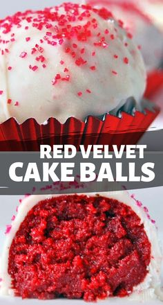 Red Velvet Cake Balls Made Entirely From Scratch. These are Truly Delicious Beyond Belief! Best Easy Dessert Recipes, Quick Easy Desserts, Sweets Recipes, Delicious Desserts, Valentine Desserts, Köstliche Desserts, Cheesecake Desserts, Red Velvet Truffles, Red Velvet Cake Pops