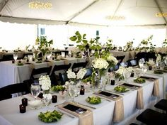 Family-style seating via A Classic Party Rental