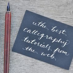 Teach yourself calligraphy - Brush Lettering, Hand Lettering, pointed pen & calligraphy -