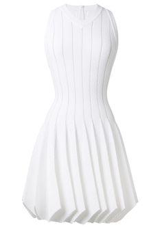 Azzedine Alaïa Dresses :: Azzedine Alaïa white stretch knitwear dress | Montaigne Market