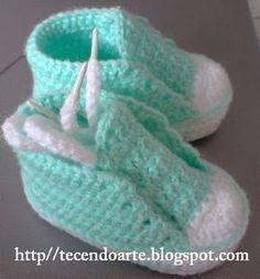 Como Fazer Tênis de Crochê Para Bebê (13)
