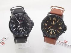 Men's Army Watches Naviforce Leather Calendar Military Watch