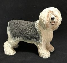 Art Blown Glass Figurine of the Old English Sheepdog dog