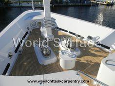 Teak Decking on Mega Yachts