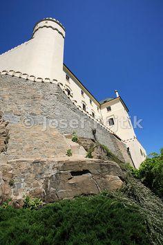 Orlik Castle at the Orlik Artifical Lake on the Vltava River, Czech Republic