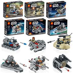 6 Pcs/Set #StarWars Warships Spaceship Clone Wars Building Blocks Compatible With LEGO http://exploringtrends.com/collections/star-wars/products/6-pcs-set-star-wars-warships-spaceship-clone-wars-building-blocks-compatible-with-lego