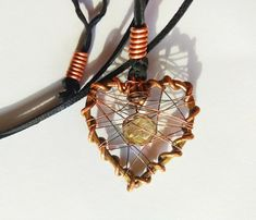 Copper heart #jewelry