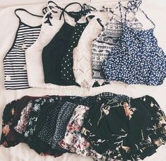 Crop tops and flowy shorts