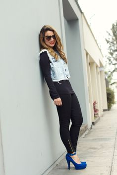 Look de hoy: Jeans + azul + negro | Radar Fashion