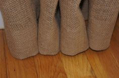 no sew burlap curtains.  My very next awesome project.  Burlap curtains in the living room.  I'm going to need 4 panels