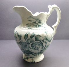 Antique Vintage Colonial Pottery Stoke England by SuzquisTreasures, $65.00