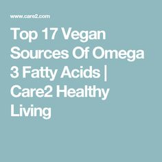 Top 17 Vegan Sources Of Omega 3 Fatty Acids | Care2 Healthy Living