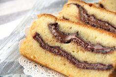 Nutella Swirl Pound Cake