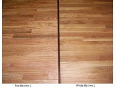 Differences between red oak and white oak hardwood flooring - color, graining, hardness, cost. Red oak vs. white oak hardwood.