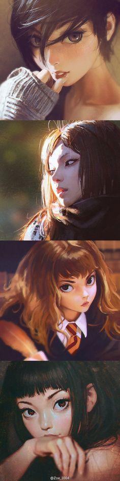 Realistic anime girls