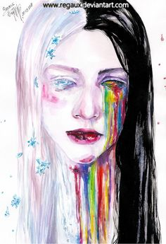 Watercolors and acrylics on A4 Canson paper. There was an article about a taxi driver who assaulted a woman, with a picture of her in the hospital attached to it and her lips really made an impact o...