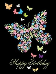 Happy birthday pics for her.Lovely butterfly birthday images to wish my girlfriend.
