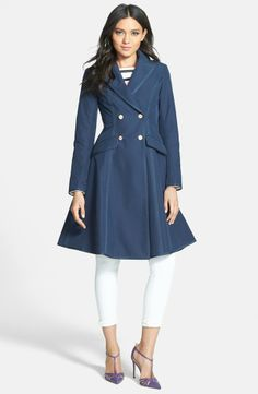 A few more weeks of winter seems a small price to pay to wear this all spring 2014 long: SJP 'Manhattan' Grosgrain Trim Skirted Trench Coat (Nordstrom Exclusive) #Nordstrom #SJP #SJP_spring_collection