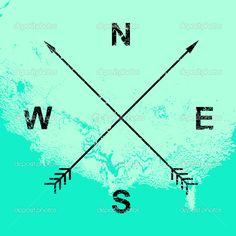 Compass illustration, crossed arrows — Stock Vector © kovalto1 ...