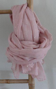 Sjaal roze paillet <3