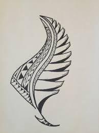 Traditonal Maori Silverfern Tattoo Design With Red Elements Feather Tattoos Samoan Tattoo Polynesian Tattoo
