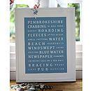 Personalised Holiday Memories Print