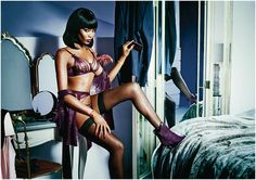 Get ready for Valentine s  Agent Provocateur SS15 collection. Naomi Campbell  wearing Agent Provocateur s SS15 680582273
