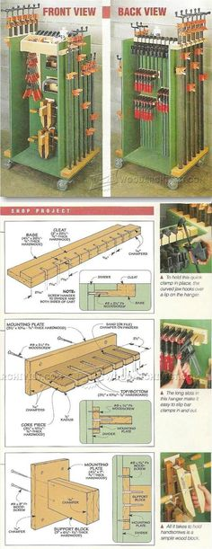 Clamp Cart - Workshop Solutions Projects, Tips and Tricks | http://WoodArchivist.com