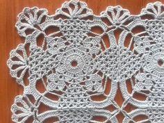 Crochet Doilies, Hand Crochet, National Holidays, Blue Square, Cotton Thread, Beautiful Crochet, Crochet Necklace, Foods, Table Decorations