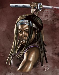 "Michonne by Tony SantiagoGet ""The Walking Dead"" comics here [ Follow SuperheroesInColor on facebook / instagram / twitter / tumblr ]"