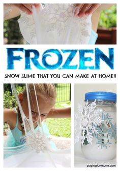 This three ingredient recipe will have any 'Frozen' fan smiling like it's Christmas everyday! Indoor Activities For Kids, Sensory Activities, Sensory Play, Winter Activities, Frozen Birthday Party, Frozen Party, Diy Crafts For Kids, Fun Crafts, Frozen Crafts