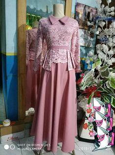 Dress Brokat Muslim, Dress Pesta, Muslim Dress, Kebaya Brokat, Batik Fashion, Abaya Fashion, Muslim Fashion, Model Dress Kebaya, Mode Batik