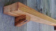 Walnut Ledge Mantle Shelf Rustic Reclaimed by VintageShelfShop