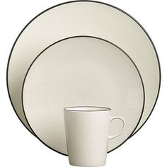 Kita Dinner Plate | Crate and Barrel  sc 1 st  Pinterest & Martha Stewart Collection Dinnerware French Cupboard 16 Piece Set ...