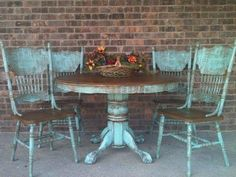 farm table and chair updo chalk paint painted furniture repurposing upcycling shabby chic - July 06 2019 at Comedor Shabby Chic, Shabby Chic Dining, Shabby Chic Living Room, Shabby Chic Interiors, Shabby Chic Kitchen, Shabby Chic Homes, Shabby Chic Furniture, Shabby Chic Decor, Painted Furniture