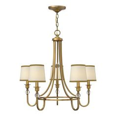 Hinkley Lighting 4875BR Morgan Chandelier This product by Hinkley Lighting is offered in a brushed bronze finish. Requires five 60-watt frosted incandes…