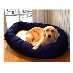 "Majestic Pet Extra Large 52"" Bagel Bed - Blue & Sherpa"
