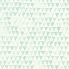 354082 Tout Petit behang mintgroene driehoekjes.