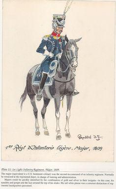 French; 1st Light Infantry, Major, 1809