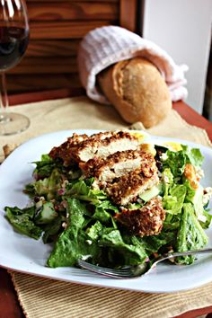 Brown Sugar Pecan Crusted Chicken & Goat Cheese Salad