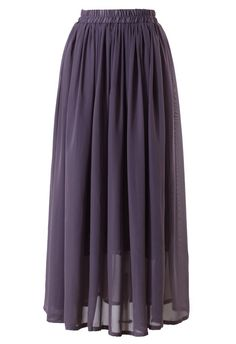 This maxi skirt has been crafted from chiffon fabric. Featuring flexible waistband, full length underskirt and accordion pleats through the main. The maxi skirt has been cut with a regular fit.  -100% Polyester,lined  Size(cm) Waist Length  S/M     65/75    96  L/XL     70/80 100  Size(inch)Waist Length  S/M     25.5/29 37  L/XL     30/32    39.5