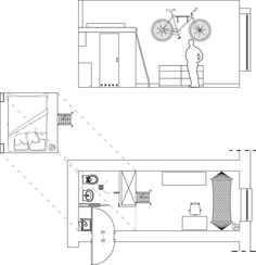 How the Owner of this 140-Square-Foot Micro Apartment Gets By Without a Sofa