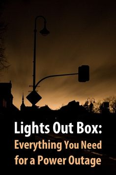 The box includes things like flashlights, batteries, a lantern, an emergency radio, a lighter, playing cards, etc. You can customize it as much as you want.