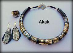 Tatouages sur polymère Polymer clay jewelry set Plus